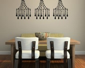 Decorative Beaded Chandelier Vinyl Wall Decal - Beautiful Kitchen Decor - Living Area Wall Stickers