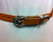 Western Leather Belt hand made