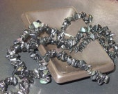 35 inch strand natural Rainbow Obsidian chip beads, supplies