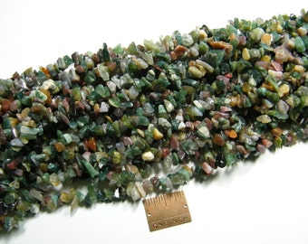Chip beads: 36 inch strand natural Fancy Jasper chip beads