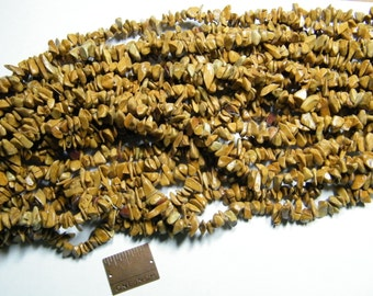 Chip beads: 36 inch strand sealed landscape stone chip beads