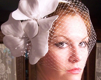 Haute Couture-Hand Sculpted Patent Leather Beauty  Bridal Birdcage Headband- CRBoggs Original Design