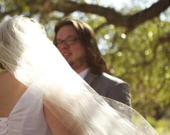 Simplistic Beauty- Standard Bridal Veil-All Lengths-No edging-metal comb-CRBoggs original Designs