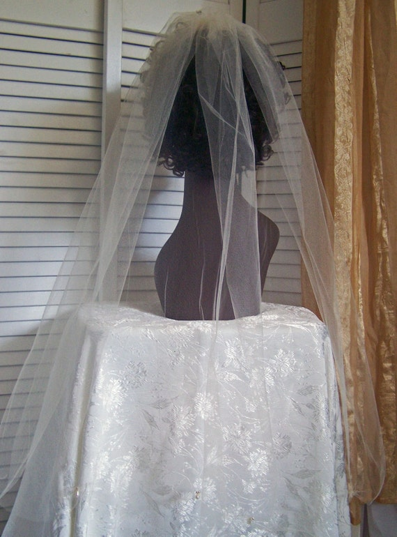 edge champagne colored bridal veil with pearls and beads bridal veil
