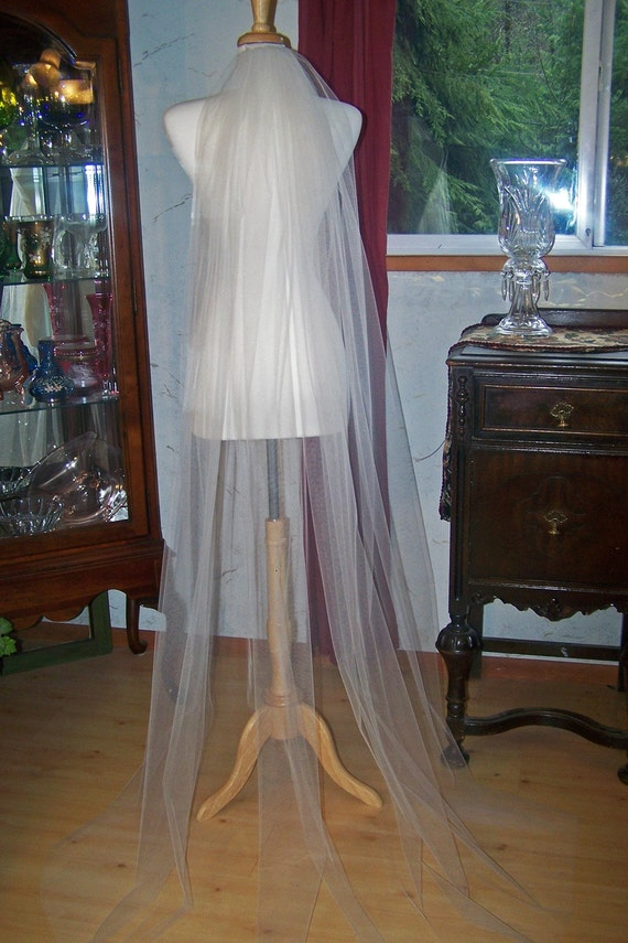 Etherial Vision Chapel Length Bridal Veil-Design your own Comb-CRBoggs Designs