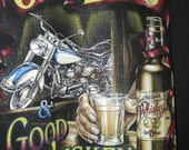old bikers and whisky t-shirt