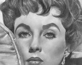 Elizabeth Taylor Original Drawing