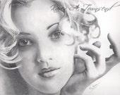 Original Drew Barrymore drawing