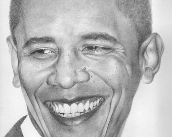 Barack Obama Original Drawing