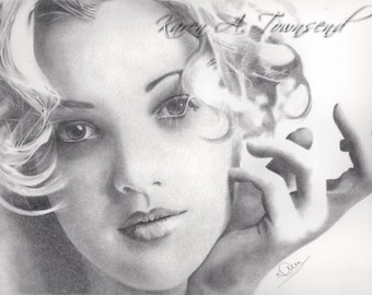 Original Drew Barrymore drawing