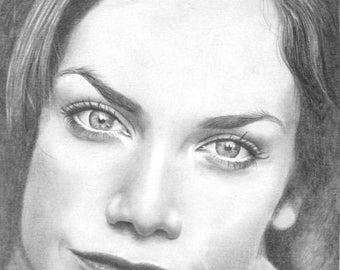 Original drawing of  Ruth Wilson