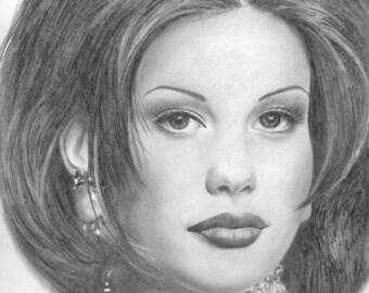 Original drawing of Liv Tyler