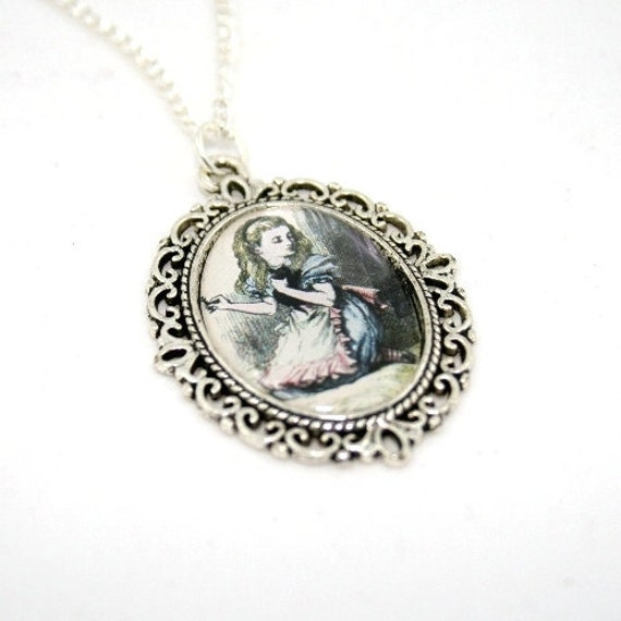 SALE - Alice In Wonderland Cameo Necklace