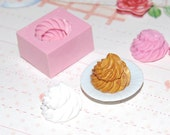 Whipped cream Mold/Mould2 for Resin, Polymer clay, Air dry Clay, etc. 1,5 cm (Ref. 140)