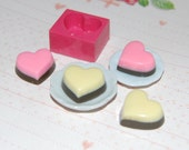 Heart shaped pudding tart cake1 Mold/Mould for Resin, Polymer clay & Air dry Clay 1,8 cm x 1,7 cm