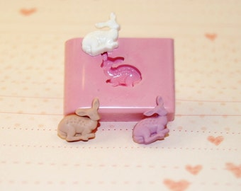 Mini deer Mold/Mould for Resin, Polymer clay & Air dry Clay 1 cm x 1 cm (Ref. A2)
