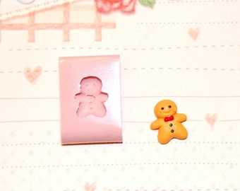 Gingerbread man Mold/Mould for Resin, Polymer clay, Air dry Clay, etc. 1,5 cm x 1,3 cm