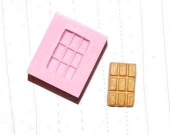 1/12 scale chocolate bar Mold/Mould1 for Resin, Polymer clay & Air dry Clay 1,6 cm x 1,1 cm