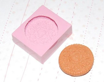 Oreo cookie Mold/Mould for Resin, Polymer clay, Air dry Clay, etc. 1,7 cm diameter