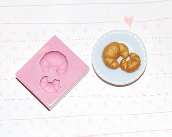 1/12 scale croissant1 Mold/Mould for Resin, Polymer clay &  Air dry Clay Big croissant size 1,1 cm x 1 cm (Ref. 141)