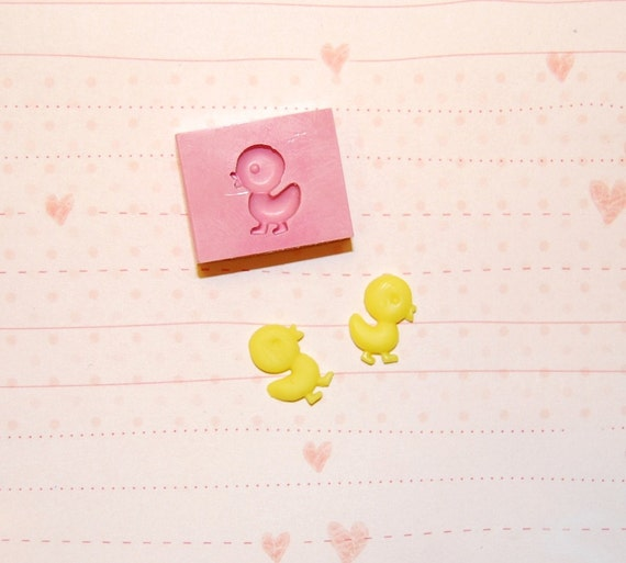 Cute mini Chick Mold/Mould for Resin, Polymer clay, Air dry Clay 1,2 cm height