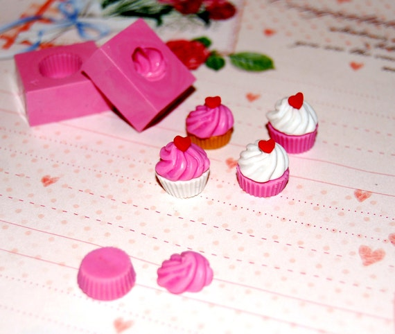 Cupcake Mold/Mould for Polymer clay, Air dry Clay, etc.