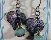 Handmade Elf's Ear Earrings Vintaj Brass