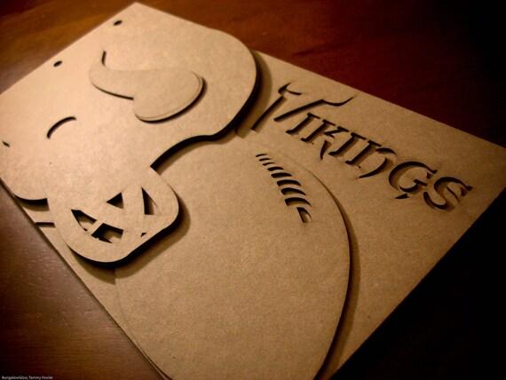 Football Scrapbook - Minnesota Vikings Team Spirit - custom Sport scrapbook chipboard album BLANK Raw