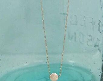 Tiny  Dot Sterling Silver Necklace