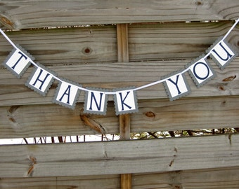 Thank You Banner - Wedding Thank You Sign - Thank You Bunting in Custom Colors