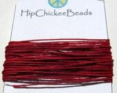 Irish Waxed Linen Thread - 5 yards - Candy Apple Red