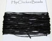 Irish Waxed Linen Thread - 5 yards - Black