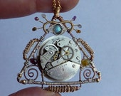All-Seeing Eye II - Wire Wrapped Steampunk Pendant