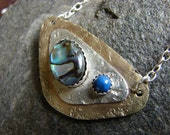 The Mermaid's Gift Necklace with Abalone and Lapis Lazuli