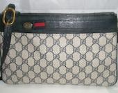 Vintage Gucci Blue and Red Rare Color Shoulderbag rare purse