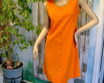 60s vintage scooter Dress vintage knit fall Orange Fun Youth Mod