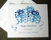 10 Personalized linen Hanukkah cards, Unique Hanukkah card, modern hanukkah holiday card set,  Chanukah cards, Featured on Luckymag.com,