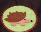 Woodland Holidays - Hedgehog Ornament or Gift Tag