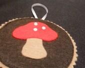 Woodland Holidays - Mushroom Ornament or Gift Tag