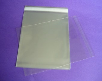 25 11.4 x 14.3 (11x14) Clear Resealable Cello Bag Plastic Envelopes Cellophane Bag