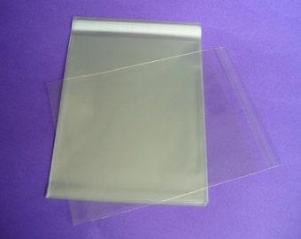 50 8.4 x 10.25 (8x10) Clear Resealable Cello Bag Plastic Envelopes Cellophane Bag