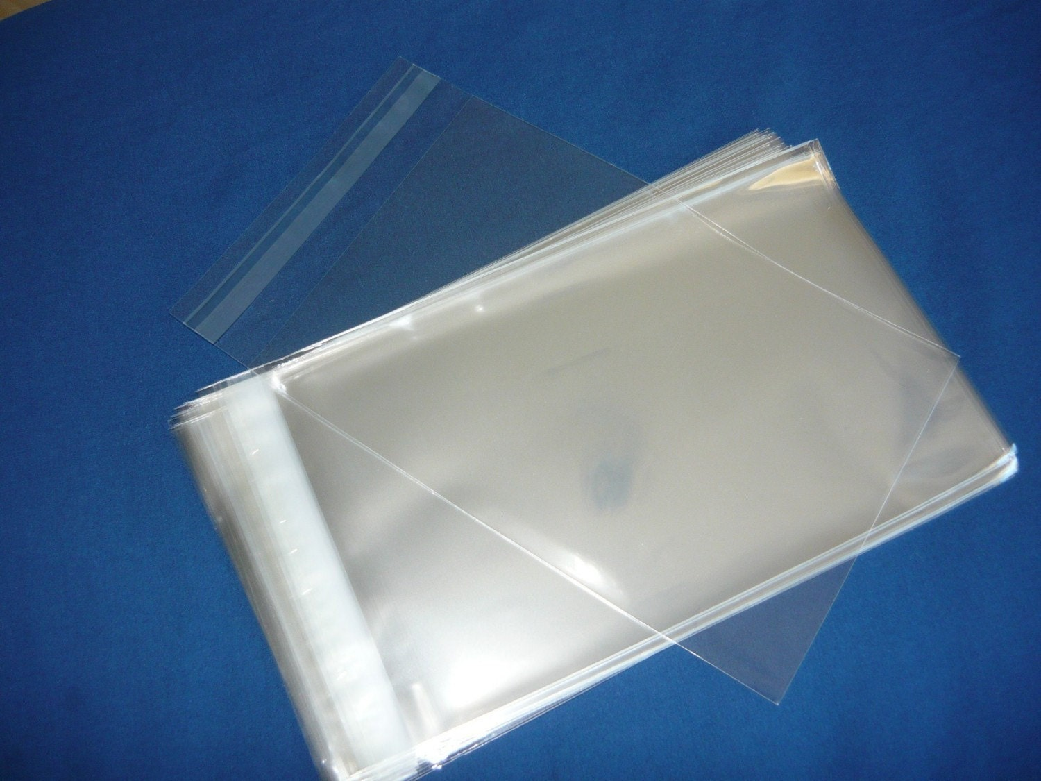 100 6 x 9 in clear resealable cello plastic envelopes bags