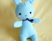 Cutesy Blue Bunny Plushie - BunBun-chan