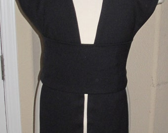 Cosplay black 100% wool tabards and sash in 8 sizes