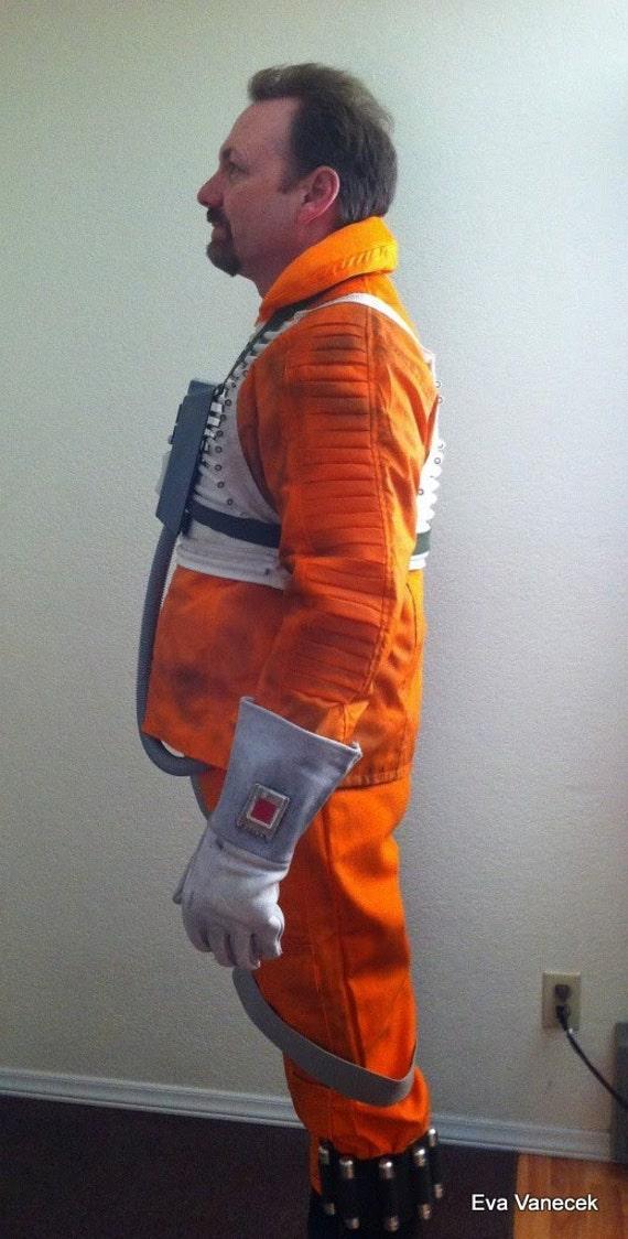 cosplay star wars hoth rebel pilot orange x wing jacket. Black Bedroom Furniture Sets. Home Design Ideas