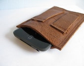 ipod leather slip case - distressed brown