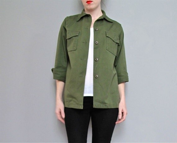 vintage ARMY green jacket XS S