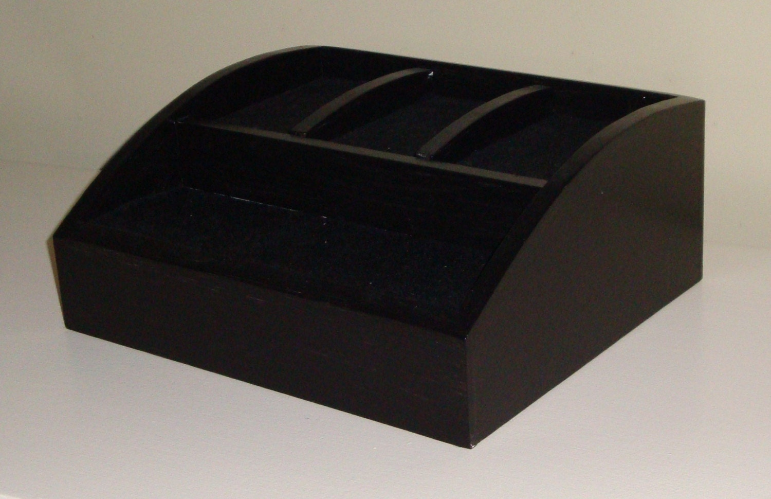 Items Similar To Black Wood Charging Station Valet