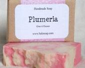 Handmade Soap Plumeria with Kaolin Clay