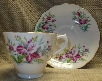 Colclough Footed Cup and Matching Saucer, 1930's-40's